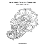Peaceful Paisley Patterns Coloring Book for Grown-Ups 2