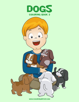 Dogs Coloring Book 3