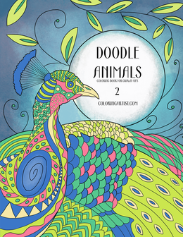 Doodle Animals Coloring Book for Grown-Ups 2