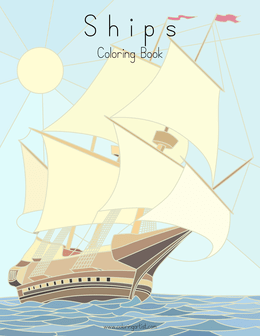 Ships Coloring Book for Grown-Ups 1