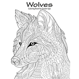 Wolves Coloring Book for Grown-Ups 1