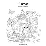 Cats Coloring Book for Grown-Ups 1