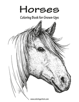 Horses Coloring Book for Grown-Ups 1