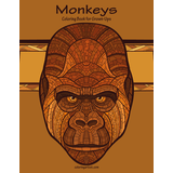 Monkeys Coloring Book for Grown-Ups 1