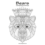 Bears Coloring Book for Grown-Ups 1