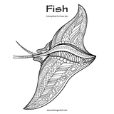 Fish Coloring Book for Grown-Ups 1