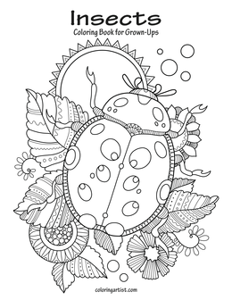 Insects Coloring Book for Grown-Ups 1