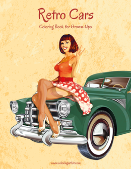 Retro Cars Coloring Book for Grown-Ups 1