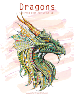 Dragons Coloring Book for Grown-Ups 1 & 2