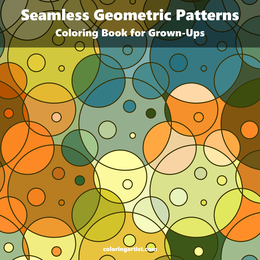 Seamless Geometric Patterns Coloring Book for Grown-Ups 1