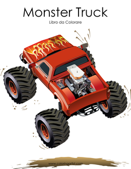 Monster Truck Libro da Colorare 1