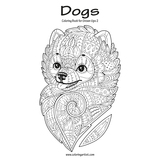 Dogs Coloring Book for Grown-Ups 2