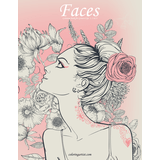 Faces Coloring Book for Grown-Ups 1, 2 & 3