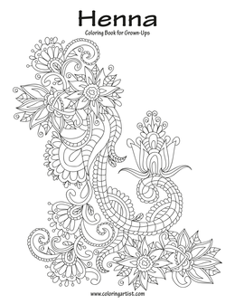 Henna Coloring Book for Grown-Ups 1