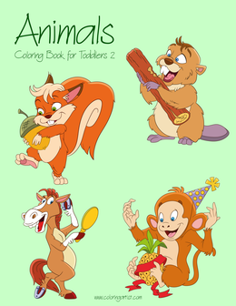 Animals Coloring Book for Toddlers 2