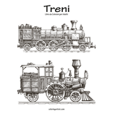 Treni Libro da Colorare per Adulti 1