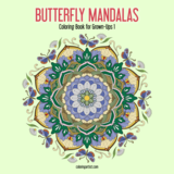 Butterfly Mandalas Coloring Book for Grown-Ups 1