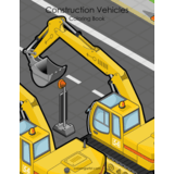 Construction Vehicles Coloring Book 1