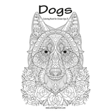Dogs Coloring Book for Grown-Ups 3