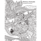 Ethnic Animals Coloring Book for Grown-Ups 4
