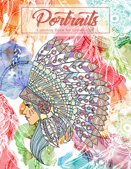 Portraits Coloring Book for Grown-Ups 1