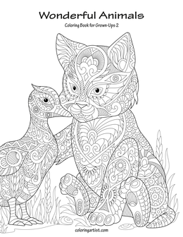 Wonderful Animals Coloring Book for Grown-Ups 2