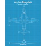 Airplane Blueprints Coloring Book for Grown-Ups 1