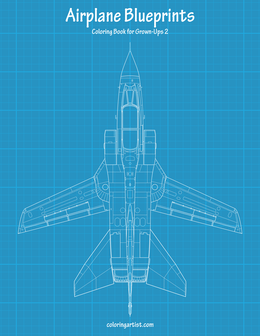 Airplane Blueprints Coloring Book for Grown-Ups 2