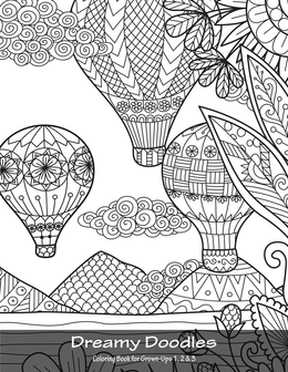 Dreamy Doodles Coloring Book for Grown-Ups 1, 2 & 3