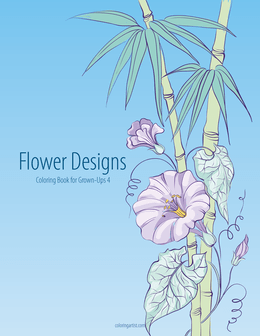 Flower Designs Coloring Book for Grown-Ups 4