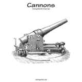 Cannons Coloring Book for Grown-Ups 1