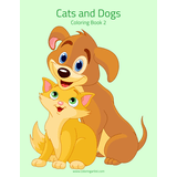 Cats and Dogs Coloring Book 2