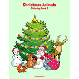 Christmas Animals Coloring Book 2