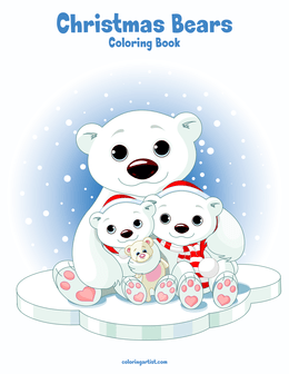 Christmas Bears Coloring Book 1