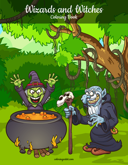 Wizards and Witches Coloring Book 1