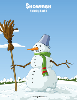 Snowmen Coloring Book 1