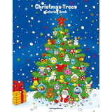 Christmas Trees Coloring Book 1