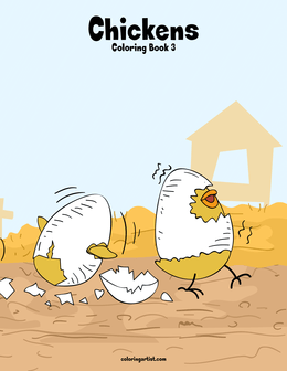 Chickens Coloring Book 3