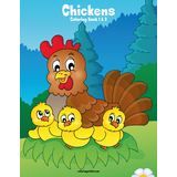 Chickens Coloring Book 1 & 2