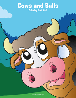 Cows and Bulls Coloring Book 1 & 2