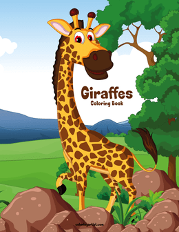 Giraffes Coloring Book 1