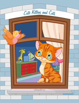 Cute Kittens and Cats Coloring Book 1, 2 & 3