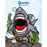 Sharks Coloring Book 1 & 2