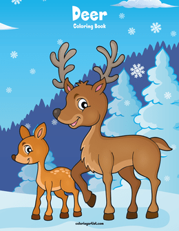 Deer Coloring Book 1