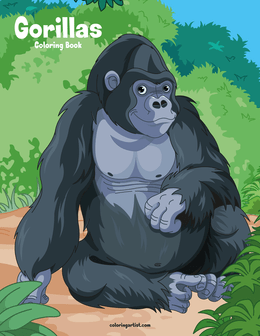 Gorillas Coloring Book 1