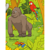 Monkeys Coloring Book 3