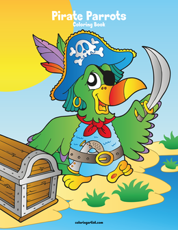 Pirate Parrots Coloring Book 1