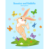 Bunnies and Rabbits Coloring Book 1