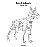 Robot Animals Coloring Book 1