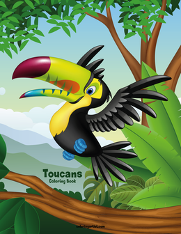 Toucans Coloring Book 1